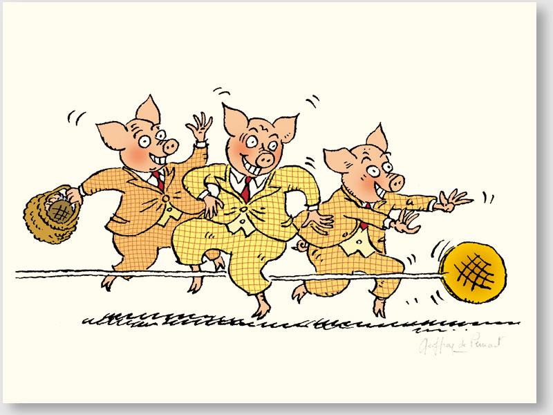 La galette et les 3 petits cochons